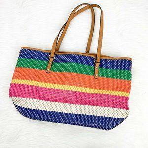 Nine West Women's Multicolor Wicker Tote Purse Bag